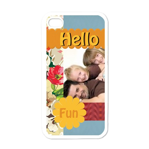 Halo Fun By Joely   Apple Iphone 4 Case (white)   8kxve9c1e4ap   Www Artscow Com Front