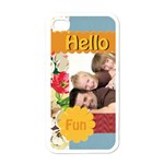 halo fun - Apple iPhone 4 Case (White)