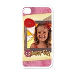 happy girl - Apple iPhone 4 Case (White)