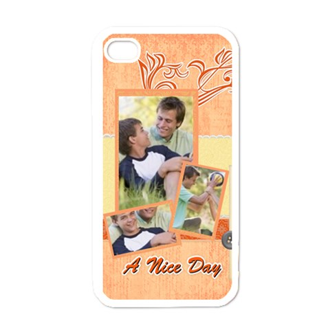 Family A Nice Day By Joely   Apple Iphone 4 Case (white)   9sm8em4jxyv6   Www Artscow Com Front