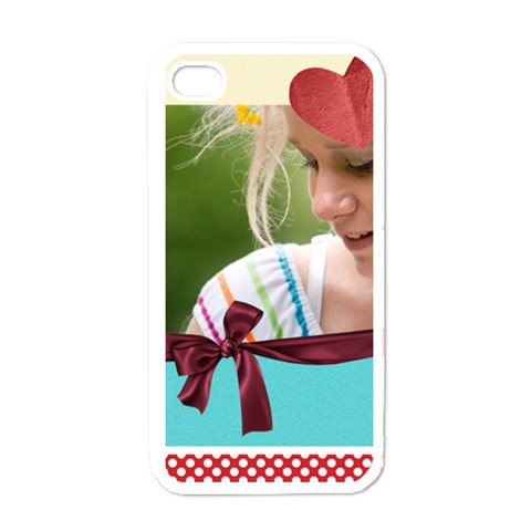 Gift By Joely   Apple Iphone 4 Case (white)   Hv2404vlopba   Www Artscow Com Front
