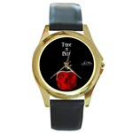 Snow White Brothers Grimm - 1912 - Round Gold Metal Watch
