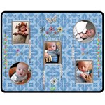 Baby Blue Medium Fleece Blanket - Fleece Blanket (Medium)