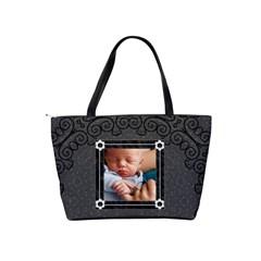 Black Design Classic Shoulder Handbag By Lil    Classic Shoulder Handbag   9jdawdcj2f8r   Www Artscow Com Back