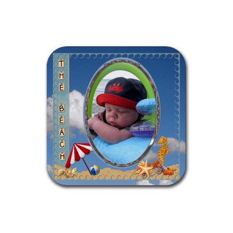 The Beach Square Contest By Lil    Rubber Coaster (square)   Nhpfjvl0jd38   Www Artscow Com Front