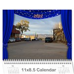 Our Production 2018 (any year) Calendar Blue and Gold - Wall Calendar 11  x 8.5  (12-Months)