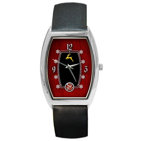 Santa s Watch By Timm Miller   Barrel Style Metal Watch   Nsgidh4upyo5   Www Artscow Com Front
