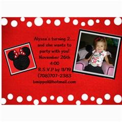 Bday By Becky   5  X 7  Photo Cards   Adzj1l9ubsno   Www Artscow Com 7 x5 Photo Card - 2