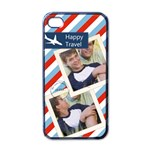 happy travel - Apple iPhone 4 Case (Black)