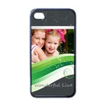 wonderful life - Apple iPhone 4 Case (Black)
