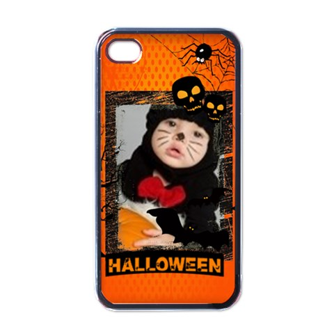 Halloween By Joely   Apple Iphone 4 Case (black)   C4kdyjc9xupq   Www Artscow Com Front