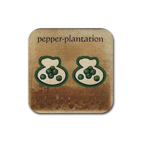Pepper By Jorge Nieva   Rubber Coaster (square)   E39uooh9tetq   Www Artscow Com Front