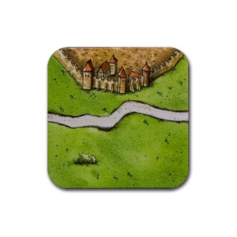 Carcassonne By Jorge Nieva   Rubber Coaster (square)   Dsjhbw9ymv9o   Www Artscow Com Front