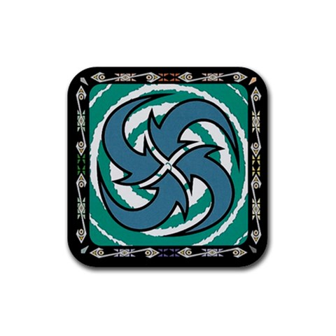 Jungle By Jorge Nieva   Rubber Coaster (square)   8kq3rse4euv3   Www Artscow Com Front