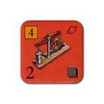 Brass - Rubber Coaster (Square)