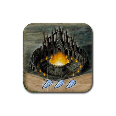 Bluemoonfuego By Jorge Nieva   Rubber Coaster (square)   Of8pcnbs0y0x   Www Artscow Com Front