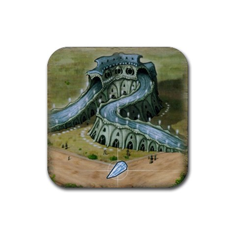 Bluemoon Rio By Jorge Nieva   Rubber Coaster (square)   Nd0v97ubebrq   Www Artscow Com Front