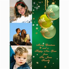 Green Bauble Photo Card 5x7 By Deborah   5  X 7  Photo Cards   626yuei4auf6   Www Artscow Com 7 x5 Photo Card - 1