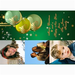 Green Bauble Photo Card 5x7 By Deborah   5  X 7  Photo Cards   626yuei4auf6   Www Artscow Com 7 x5 Photo Card - 2