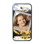pattern girl - Apple iPhone 4 Case (Black)