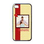 romantic - Apple iPhone 4 Case (Black)