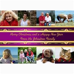 8 Picture Merry Christmas Photo Card 5x7 (purple) By Deborah   5  X 7  Photo Cards   F3iyrdb54cbz   Www Artscow Com 7 x5 Photo Card - 7