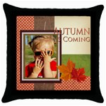 autumn is coming - Throw Pillow Case (Black)