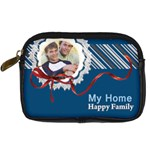 my home  happy family - Digital Camera Leather Case
