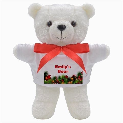 Personalised Christmas Bear By Deborah   Teddy Bear   Nnqz8pb81i8u   Www Artscow Com Front