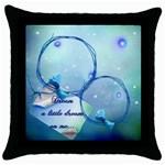 dream a little dream pillow case - Throw Pillow Case (Black)