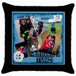 dassy - Throw Pillow Case (Black)