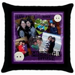 rivka - Throw Pillow Case (Black)