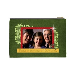 Christmas/family Cosmetic Bag (l)  By Mikki   Cosmetic Bag (large)   4kd29nudqqci   Www Artscow Com Back