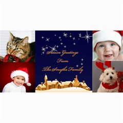 Holiday Greetings 4x8 Photo Card By Deborah   4  X 8  Photo Cards   Xf0z1e0qrbln   Www Artscow Com 8 x4 Photo Card - 4