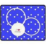 Love Daddy Medium blanket - Fleece Blanket (Medium)