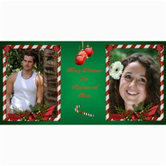 Candy Cane 4x8 Photo Card By Deborah   4  X 8  Photo Cards   H4tdncfy14qv   Www Artscow Com 8 x4 Photo Card - 1