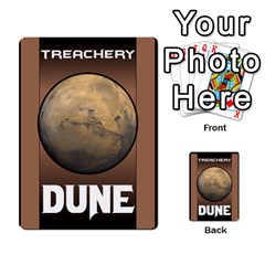 Dune Treachery By Matt   Playing Cards 54 Designs   E5sdh435g9ew   Www Artscow Com Back