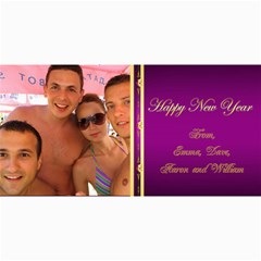 Happy New Year 4x8 Photo Card (purple) By Deborah   4  X 8  Photo Cards   Lsa7r10qb81m   Www Artscow Com 8 x4 Photo Card - 1