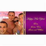 Happy New year 4x8 Photo Card (purple) - 4  x 8  Photo Cards