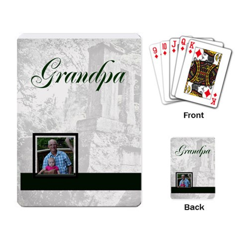 Grandpa Cards By Patricia W   Playing Cards Single Design   7san5xl7bzq8   Www Artscow Com Back