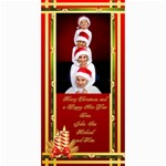 Elegant Merry Christmas Photo card 4x8 - 4  x 8  Photo Cards