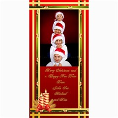 Elegant Merry Christmas Photo Card 4x8 By Deborah   4  X 8  Photo Cards   Vlbysujp42lt   Www Artscow Com 8 x4 Photo Card - 8