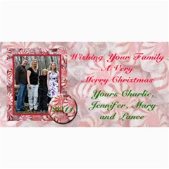 Family Christmas By Patricia W   4  X 8  Photo Cards   3ejmkdv9tqmh   Www Artscow Com 8 x4 Photo Card - 1