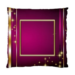 Pink And Gold Elegant Cushion (2 Sided) By Deborah   Standard Cushion Case (two Sides)   Dn5b3ka3d0l0   Www Artscow Com Back