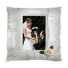 Our Wedding Cushion Case (2 Sided) By Deborah   Standard Cushion Case (two Sides)   Mq0klzvhlnbr   Www Artscow Com Front