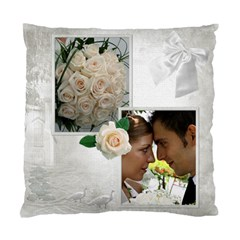 Our Wedding Cushion Case (2 Sided) By Deborah   Standard Cushion Case (two Sides)   Mq0klzvhlnbr   Www Artscow Com Back