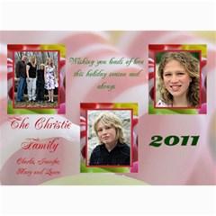 Christie Family Christmas By Patricia W   5  X 7  Photo Cards   Xh25g4z3wsqh   Www Artscow Com 7 x5 Photo Card - 3