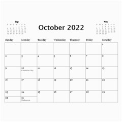 Celebration Calendar 2018 (any Year) By Deborah   Wall Calendar 11  X 8 5  (12 Months)   Nxr6s62ihrri   Www Artscow Com Oct 2018