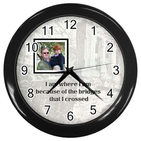 Bridge Clock By Patricia W   Wall Clock (black)   D8nkmo8kzfat   Www Artscow Com Front