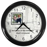 bridge clock - Wall Clock (Black)